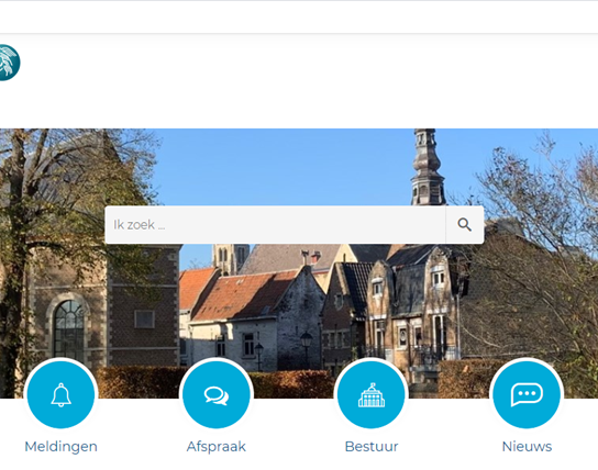 screenshot website Tongeren